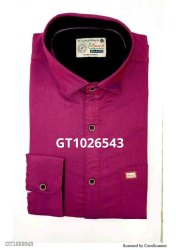 Collar Neck Mens Cotton Full Sleeves Shirt