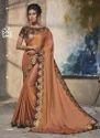 New Designer Thread Work Reception Wear Sarees