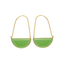 Sea Green Chalcedony Earring