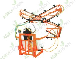 Orange Boom Sprayer