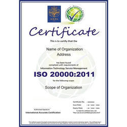 ISO/IEC 20000:2011 Certification & Consultancy Service