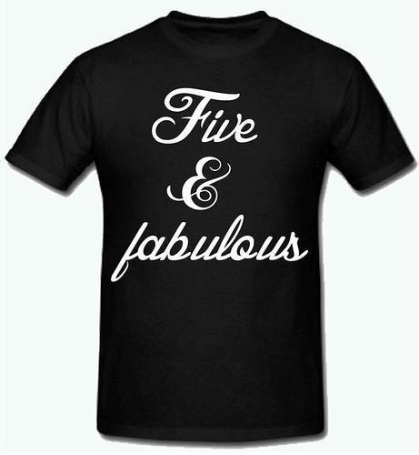 b7637fbf Polyester Boys Sprinklecart Five And Fabulous Birthday T Shirt, Rs ...