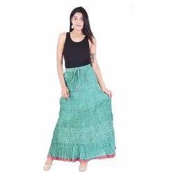 27c0a5a4398953 Cotton Block Printed Kali Long Skirts, Rs 850 /piece, Vandana ...