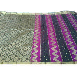 Printed Silk Saree, 5.5 M (separate Blouse Piece)