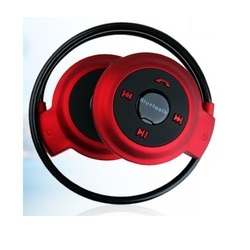 Red And Black Bluetooth Sports Stereo Headset BT-09