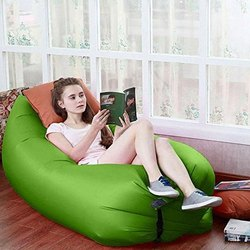 Green Pvc Lazy Air Bed