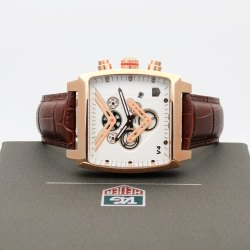 Tag Heuer V4 Brown Leather Strap Watch