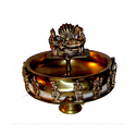 16 Inches Bronze Decorative Vishnu Urli