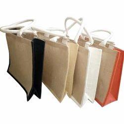 Multicolor Plain Jute Fancy Bag