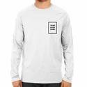 White Customized Full Sleeve T Shirt