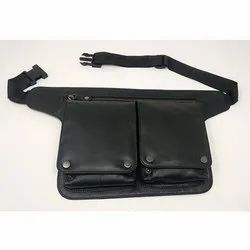 Black Leather Waist Wallet
