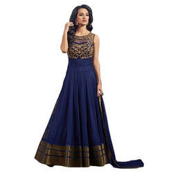Party Wear Georgette Embroidered Design Anarkali Suit