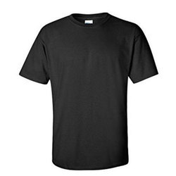 Threedots Black plain t shirt, Size: Medium and Extra Large