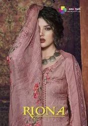 Riona-Ssm Pure Pasmina Digital Print With Embroidery Work Traditional Salwar Suits Collection