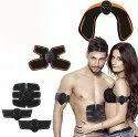 Fitness Muscle Toner & Abs Stimulator Abdominal Toning Belt Ems - Flexible Silicone/Body Workout