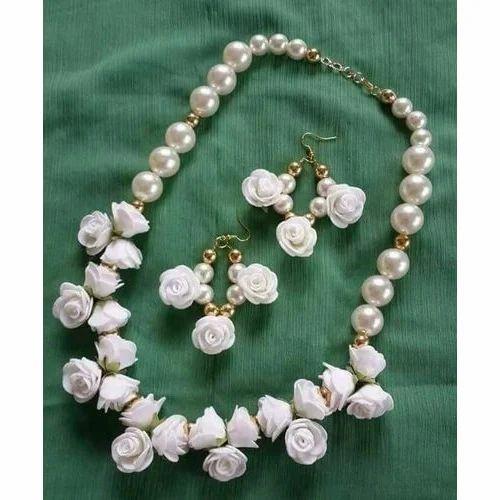 Artificial Flower Necklace Set At Rs 500 Set Artificial Necklace