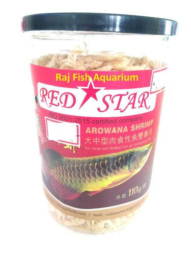 Premium Food For Arowna / Flowerhorn Red Star( Shrimp Dried) 110g
