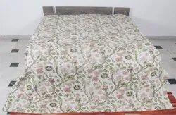 Flower Design Kantha Bedcover & Quilt