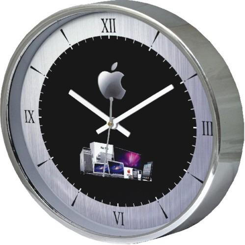 New Plastic Silver Round Wall Clock, Model No.: GE-741
