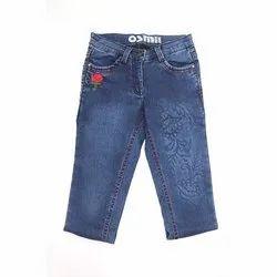 Denim Casual Wear Osmi Girls Designer Jeans, Handwash