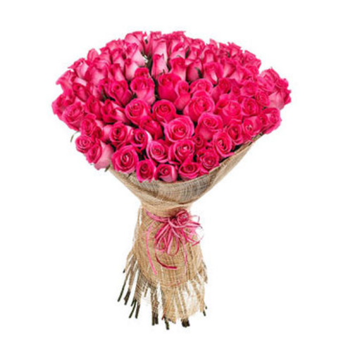 50 Pink Roses Bouquet Iga0057 At Rs 1499 Bunch Roses Flowers