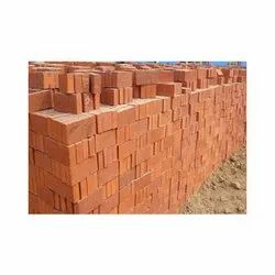Rectangular Red Clay Brick, Size: 9 In. X 4 In. X 3 In., for Partition Walls