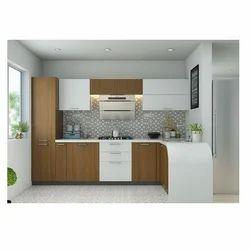 Plywood L Shaped Modular Kitchen