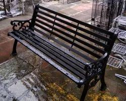 Wrought Iron Outdoor Park Bench