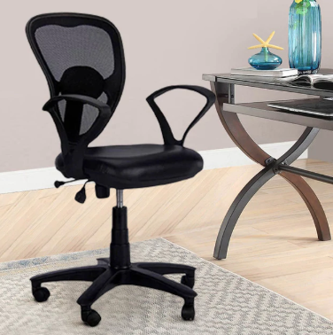 Fine Low Back Chair In Black Colour Creativecarmelina Interior Chair Design Creativecarmelinacom
