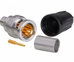 Male/Plug Silver And Black Neutrik Rear Twist BNC Cable Connector, For Power, Brass