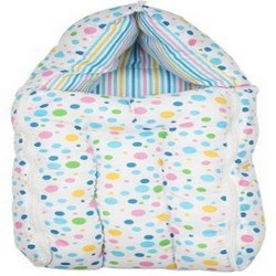 Blue Baby Cotton Bedding And Carrying Sleeping Bag