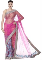 Rose Pink Hand Work Saree