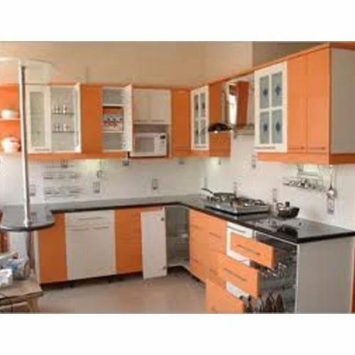 Kitchen Furniture Price: Modern PVC Modular Kitchen, Rs 1600 /square Feet, Baba