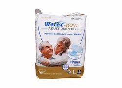 Wetex Nova Adult Diaper L (10 Pcs Pack), For 38-60 Inch