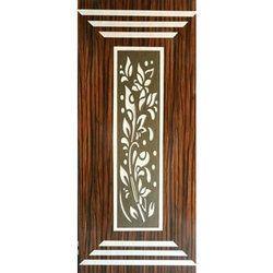 Brown Lamination Teak Wood Door, Height: 7 feet