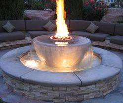 Lpg Fired Fountain Sandstone Fire Fountain, For Decoration