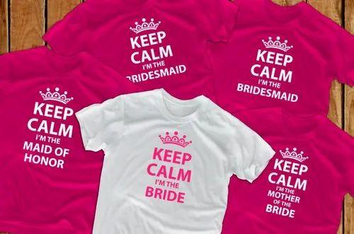 23b6c6db Customized Team Bride T Shirts at Rs 140 /piece | Chandni Chowk Area ...