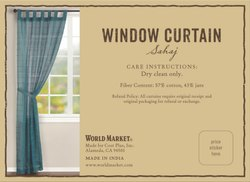 Window Curtain Tag