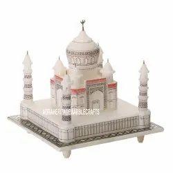 White Marble Taj Mahal Handmade Decor Traditional Home Collectible Gift