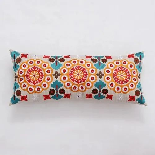 Creative Embroidered Pillow Indian Manufacturer Long Pillow Cover 80x35 Cm