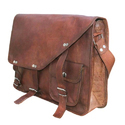 Vintage Buckle Closure Messenger Leather Bags, Pure Leather: Yes