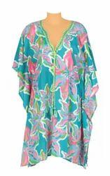 Polyester Beachwear Printed Kaftans
