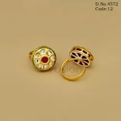 Designer Antique Kundan Finger Ring