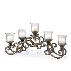 Iron Metal Decorative Table Top Candle Holder