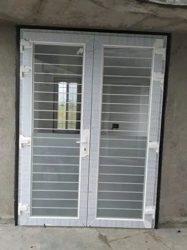 UPVC Door With Safety Grill