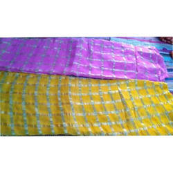 Ladies Yellow And Pink Georgette Saree