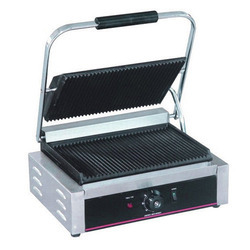 Stainless Steel Commercial Sandwich Griller, Electric