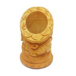 Wood Wooden Animal Shape Pen Stand, for Office