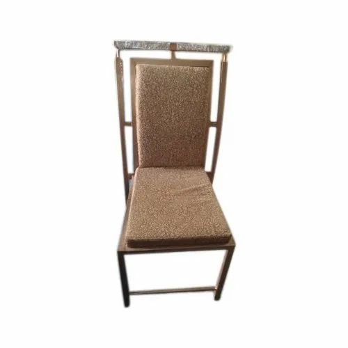Brown Stainless Steel Banquet Chair