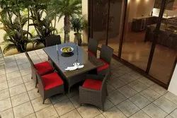 Garden Furniture Wicker Dining Set